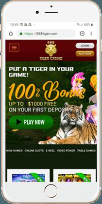 888 Tiger Casino Mobile