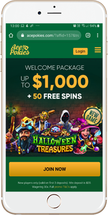 Ace Pokies Casino 2020 50 Welcome Spins Bonus