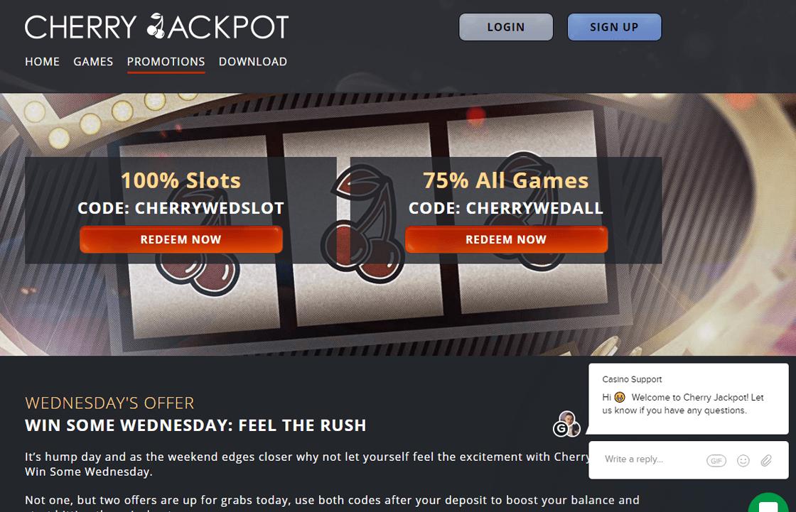 Cherry Jackpot Casino No Deposit Bonus 2021
