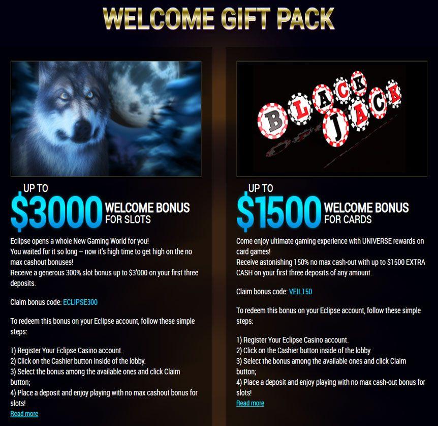 Eclipse Online Bonus Casino Review