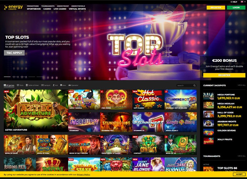 Energy Casino Bonuses