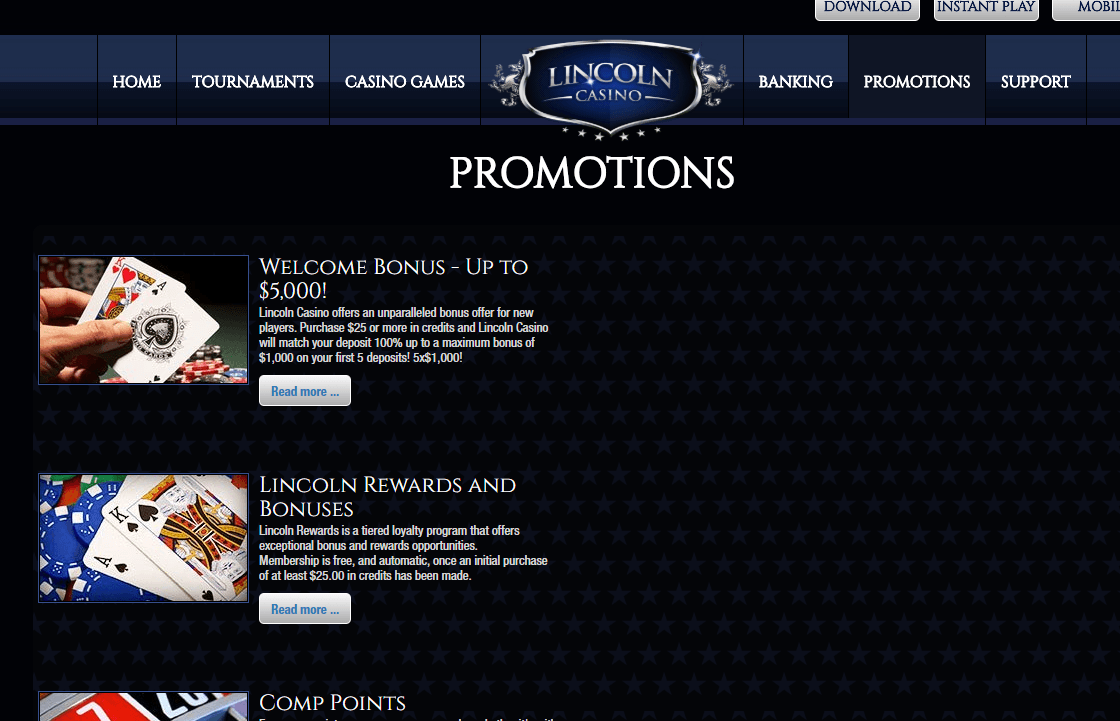 Lincoln Casino 2020 15 No Deposit Bonus