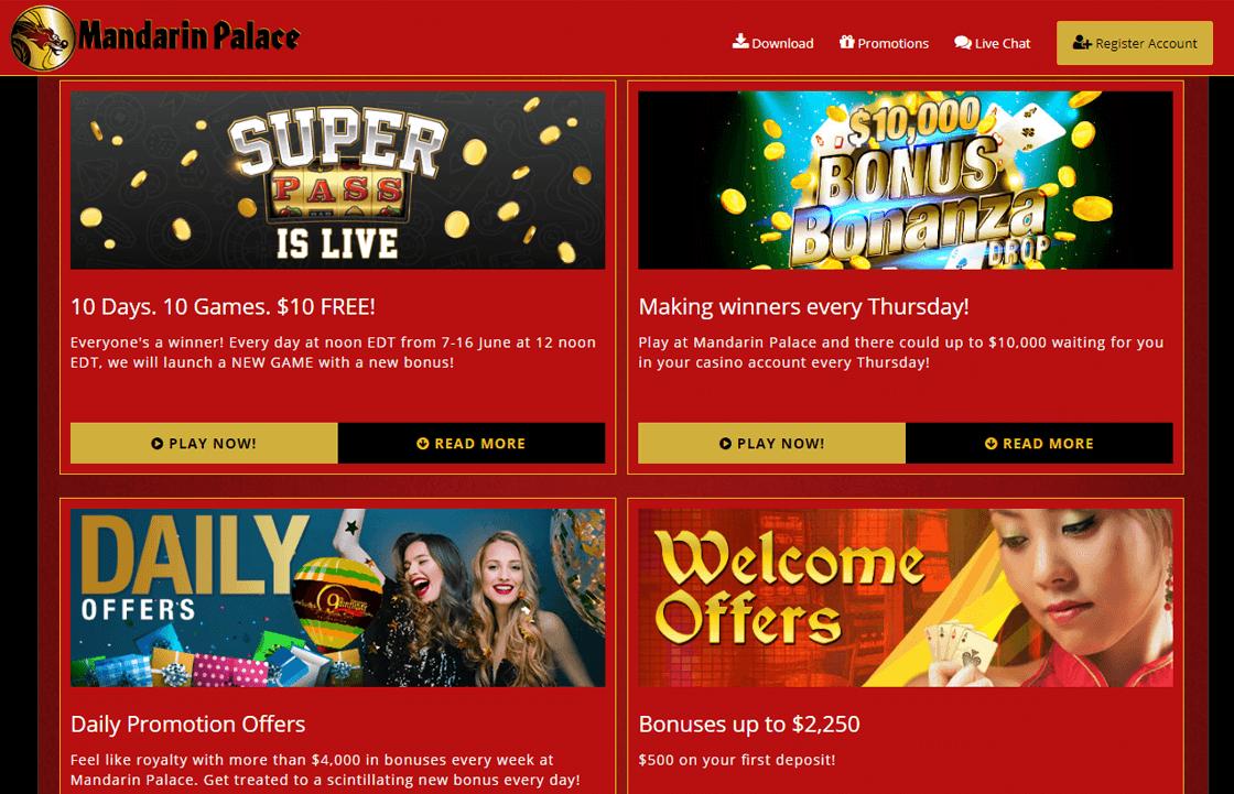 Mandarin Palace Casino 2020 24 No Deposit Bonus