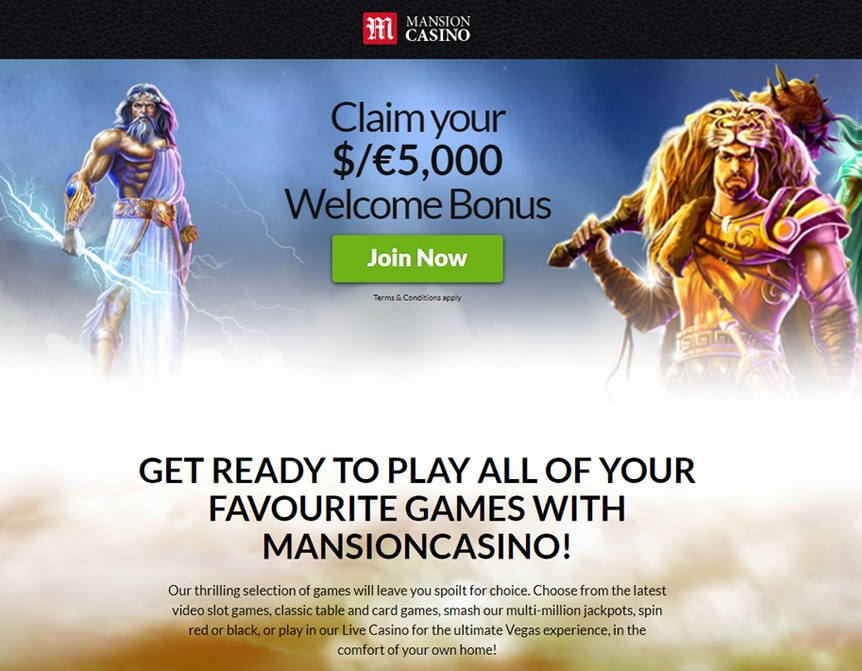 Mansion Casino Bonuses