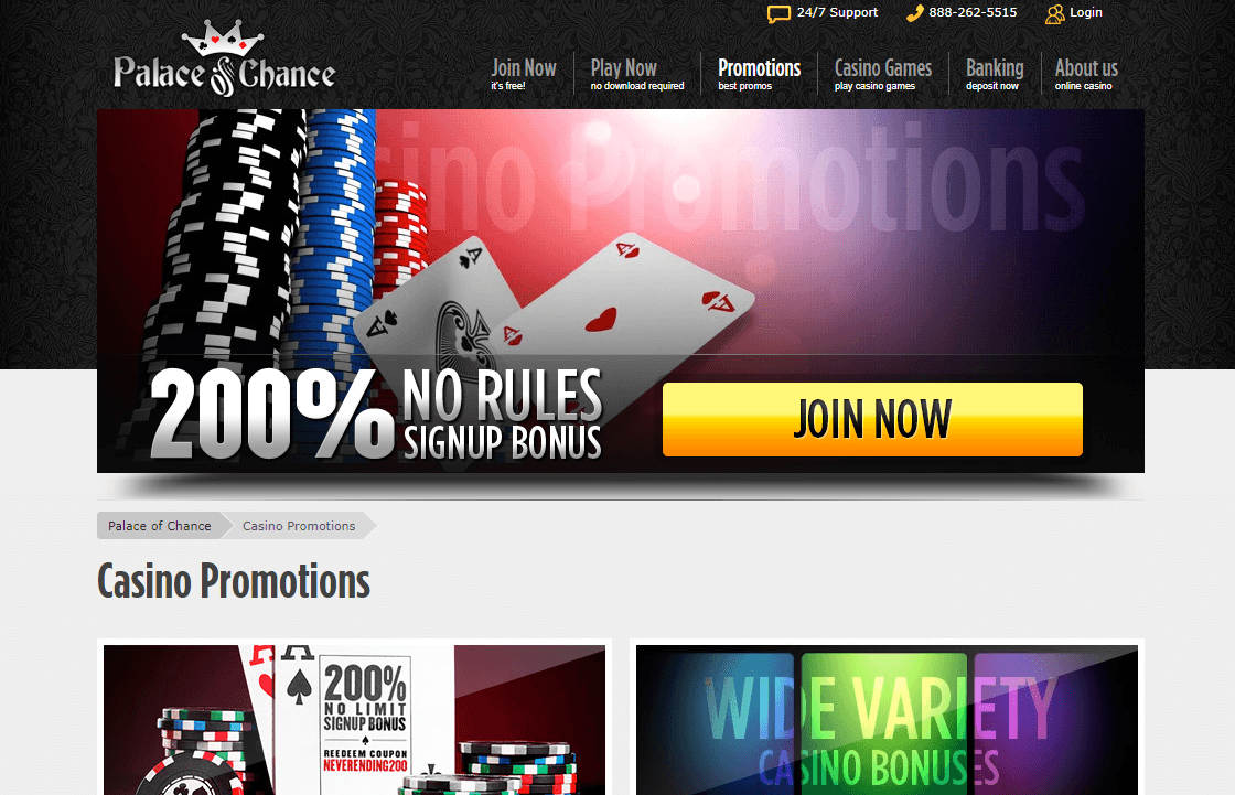 Palace of Chance Casino Bonuses