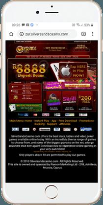Silversands Casino Mobile