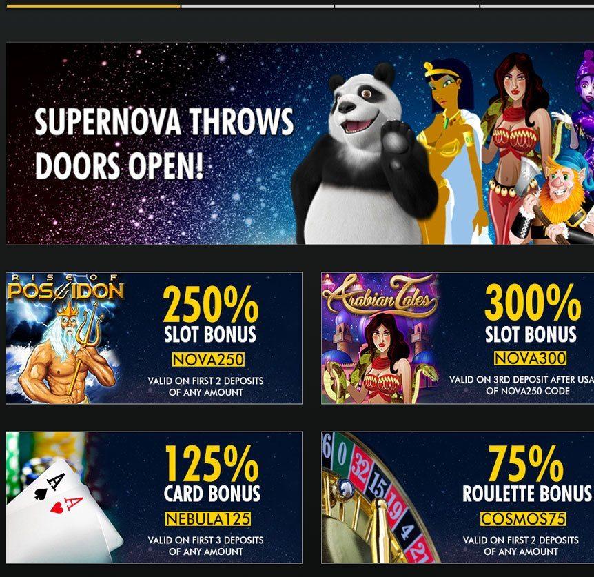 Supernova Casino Bonus Codes
