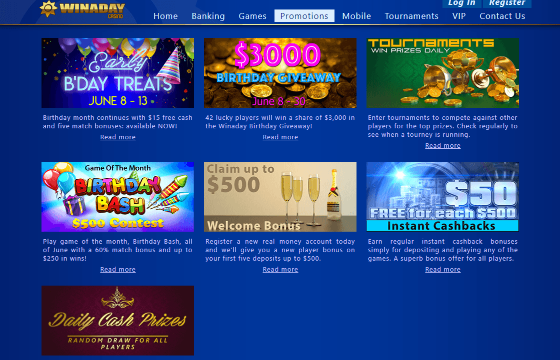 Winaday Casino Login